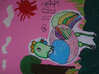 46李昕咛《花母鸡》